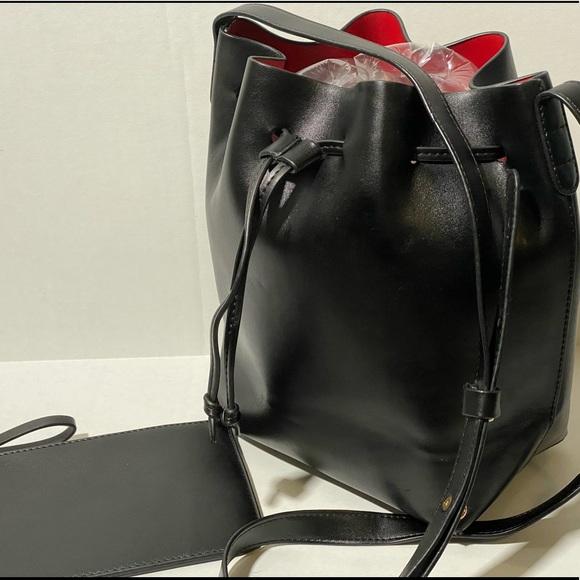 Handbags - Black Bucket Bag with Wristlet included